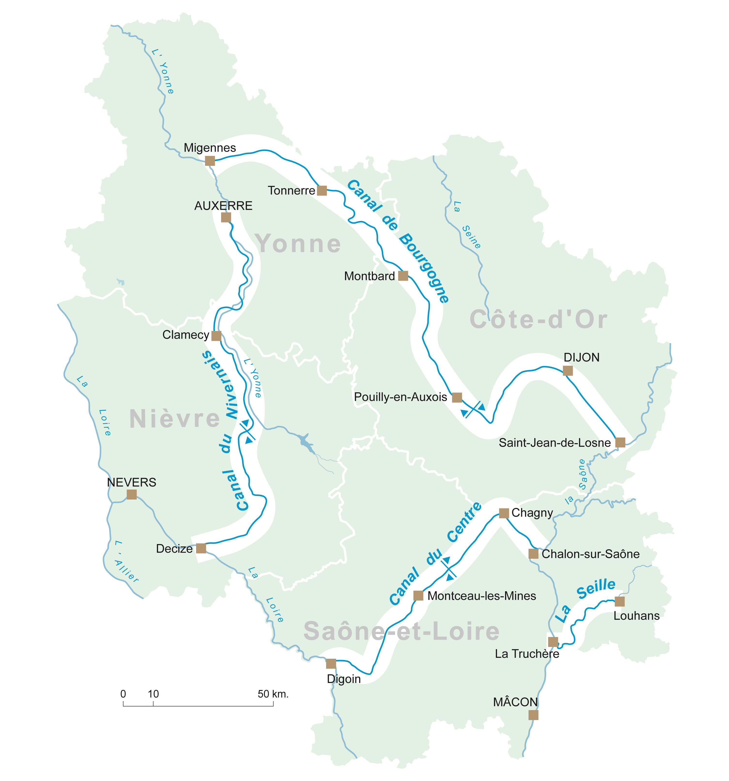 Canaux De Bourgogne Introduction
