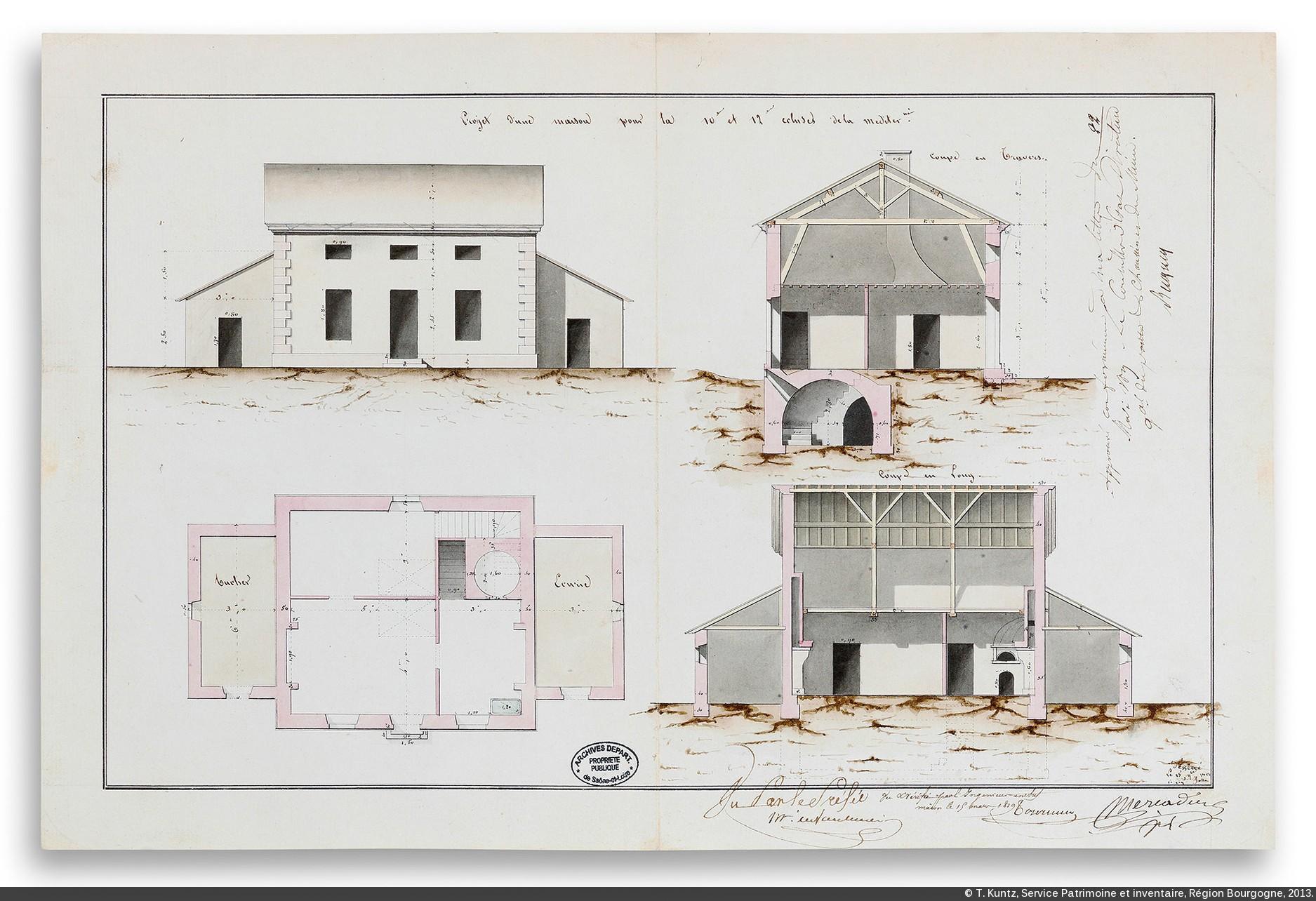 Elevation D Un Plan Archi : Canaux de bourgogne l affirmation d un équipement