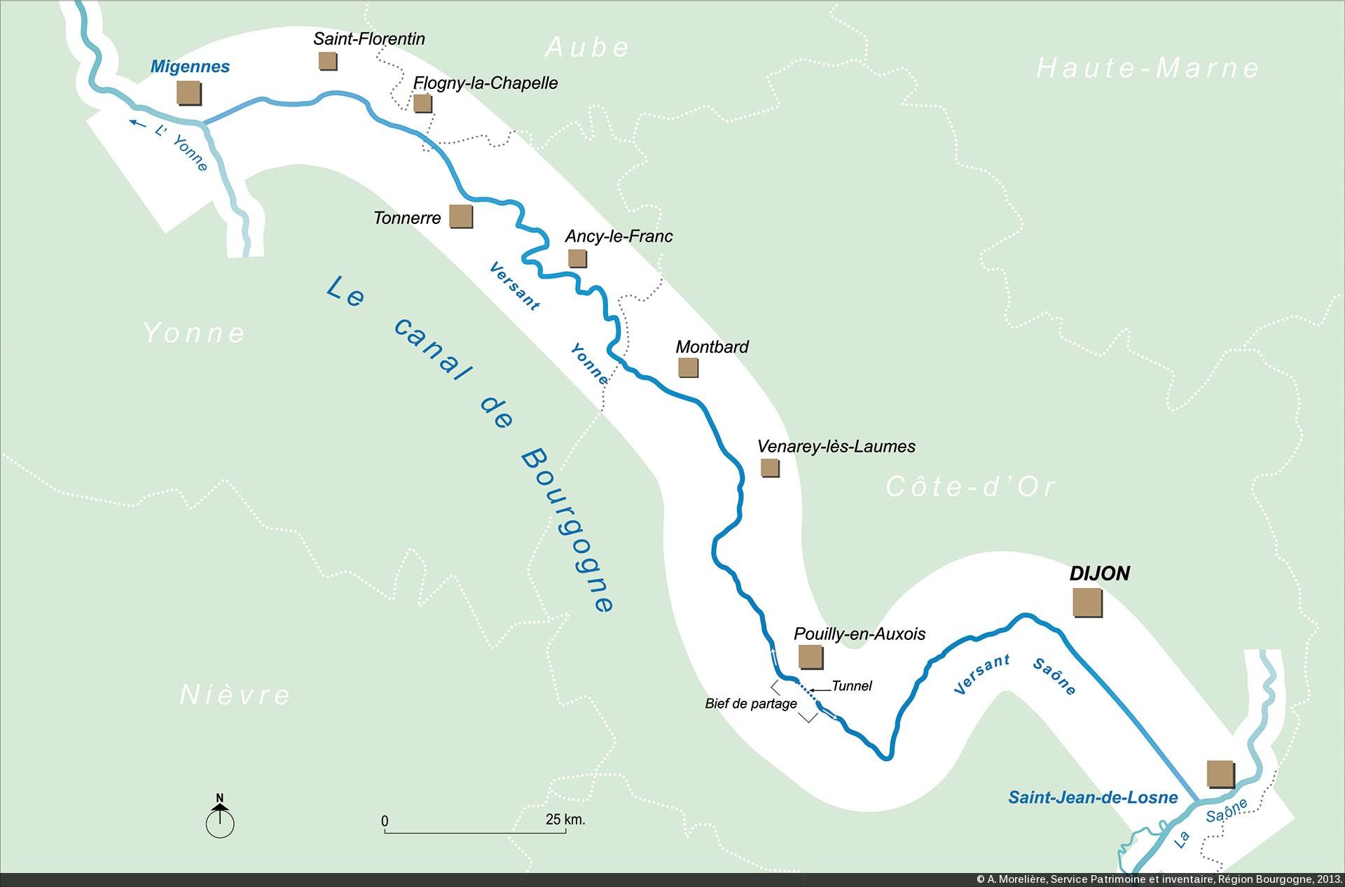 Canal De Bourgogne Carte.Canaux De Bourgogne Introduction