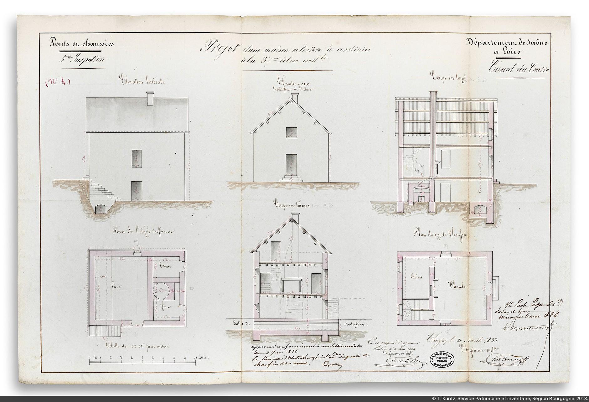 Canaux de bourgogne gen se 18e si cle 1783 for La maison du cabriolet